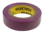 Elektroizolační páska samolepící PVC, 15mm x 10m, barva fialová.