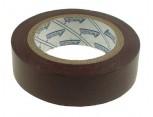 Elektroizolační páska samolepící PVC, 15mm x 10m, barva hnědá.