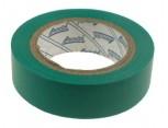 Elektroizolační páska samolepící PVC, 15mm x 10m, barva zelená.
