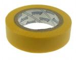 Elektroizolační páska samolepící PVC, 15mm x 10m, barva žlutá.