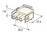 Zásuvka konektorová 3 pólová kulatá MATE-N-LOCK