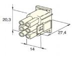 Zásuvka konektorová 6 pólová kulatá MATE-N-LOCK