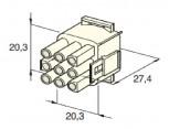 Zásuvka konektorová 9 pólová kulatá MATE-N-LOCK