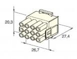 Zásuvka konektorová 12 pólová kulatá MATE-N-LOCK