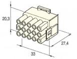 Zásuvka konektorová 15 pólová kulatá MATE-N-LOCK