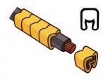 Návlečka na vodič, průřez 0,2-1,5mm2 / délka 3mm, bez potisku, žlutá
