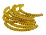 """Návlečka na vodič, průřez 0,2-1,5mm2 / délka 3mm, s potiskem """"0-9"""", žlutá"""