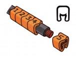 """Návlečka na vodič, průřez 0,2-1,5mm2 / délka 3mm, s potiskem """"3"""", oranžová"""
