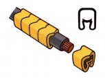 Návlečka na vodič pro průřez 16-70mm2 / délka 21mm, bez potisku, žlutá