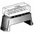 Skříňka na 6 nožových pojistek UNI spodní připojení