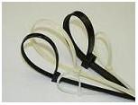 Vázací pásky černé 180x3,6 mm